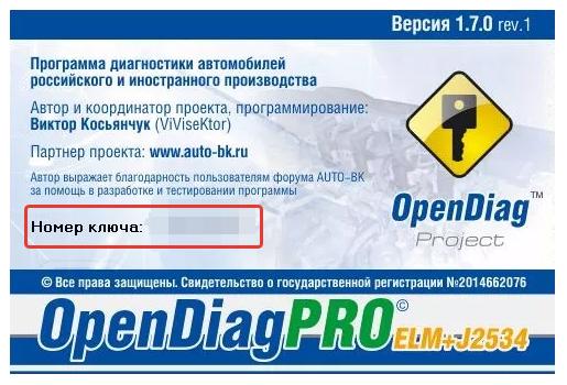Активация модулей OpenDiagPro